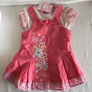 Gymboree linen mix baby outfit Sz 3/6 mths NWT